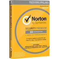 Norton Security Premium 2018 Licenza per 10 Dispositivi per 1 Anno – Licenza ESD (Electronic Software Distribution)