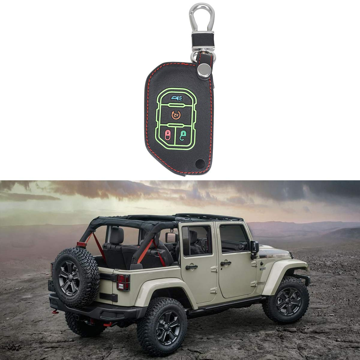 LITTOU Wrangler Door Hanger with Pad Black For CJ JKU JL JT And All New Gladiator TJ 2 pcs hangers JK YJ