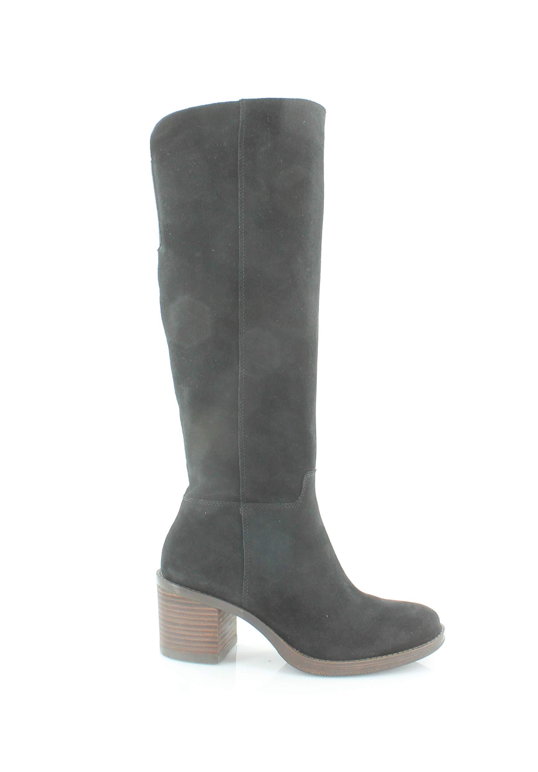 Lucky Brand Women's Ritten Riding Boot,Black,6 M US