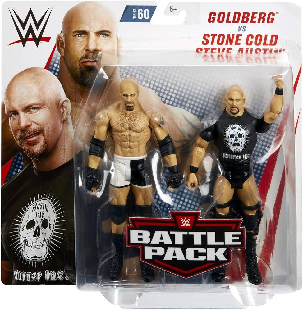 Ringside Goldberg & Stone Cold Steve Austin – WWE Battle Packs 60 Mattel Toy Wrestling Figura de acción 2 Unidades: Amazon.es: Juguetes y juegos
