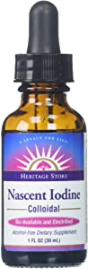 Heritage Store® Colloidal Nascent Iodine Supplement Drops | Thyroid Support | Help Boost Metabolism, Energy and Focus | 1 FL ounces (480 Servings)