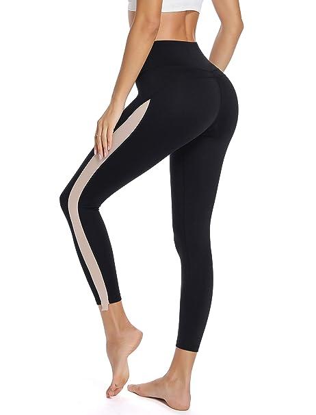 SLIMBELLE Pantalones Deportivos Mujeres Leggins Yoga Cintura ...
