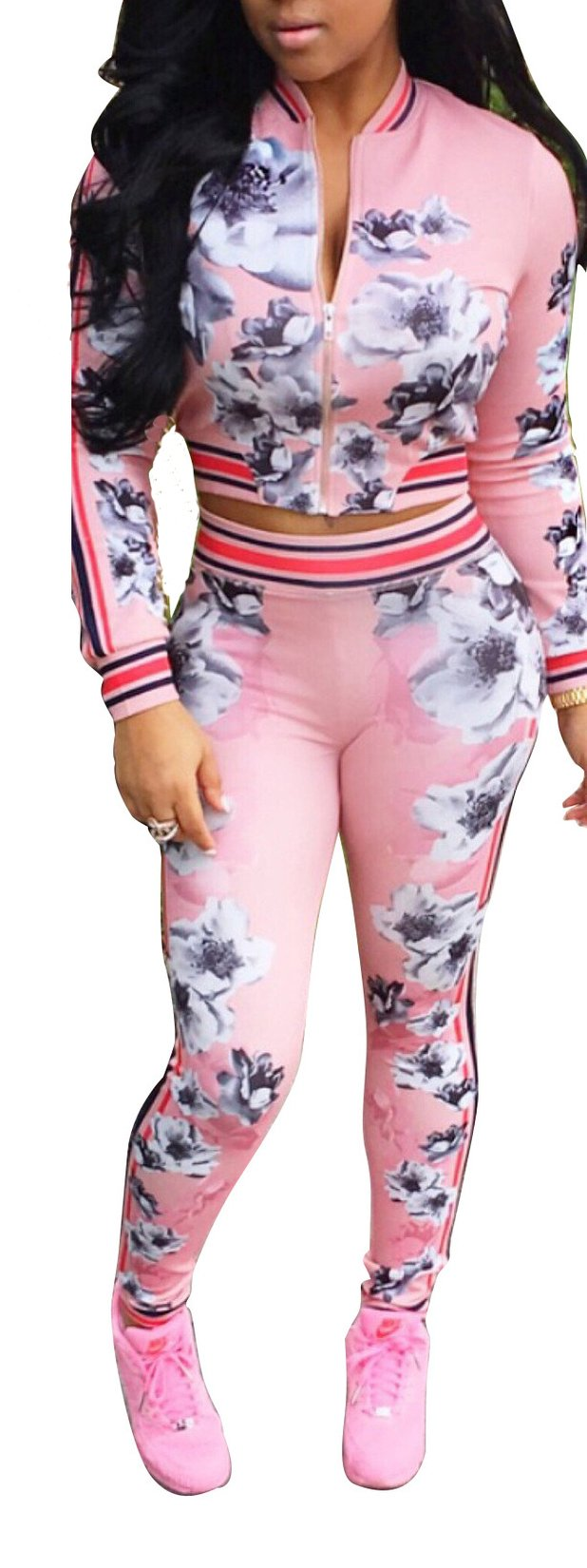 Playworld Womens 2 Piece Outfits Blazer and Pants Set Bodycon Tracksuits