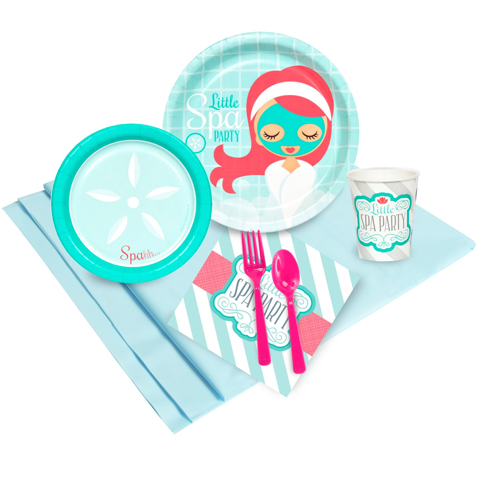 BirthdayExpress Little Spa Salon Makeover Party Supplies - Party Pack for 24