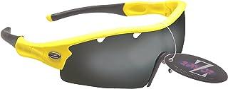 Rayzor professionnel léger UV400 Jaune Sport Wrap PÊCHE Lunettes de soleil, avec un 1 Piece ventilé fumé miroir anti-éblouissement Lens. avec un 1 Piece ventilé fumé miroir anti-éblouissement Lens. RI220YESM-FI