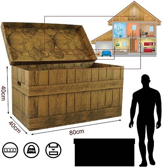 XXL de almacenamiento Caja baúl de cartón gigante caja Trunk casetón juntas: Amazon.es: Hogar
