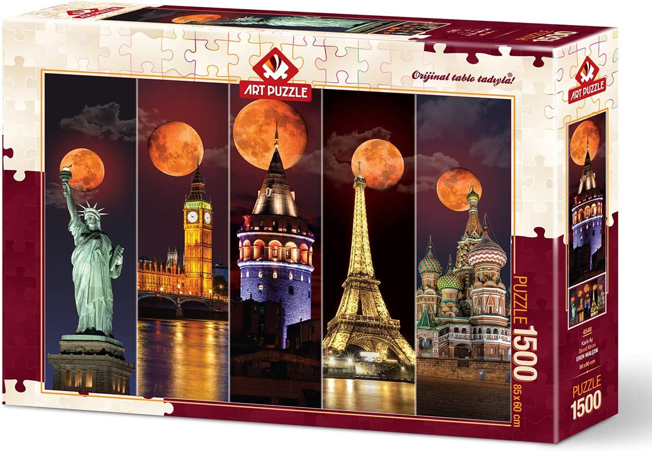 33.5 x 23.5 inches Imported from Turkey Blood Moon 1500 Piece Jigsaw Puzzle Heidi Puzzles