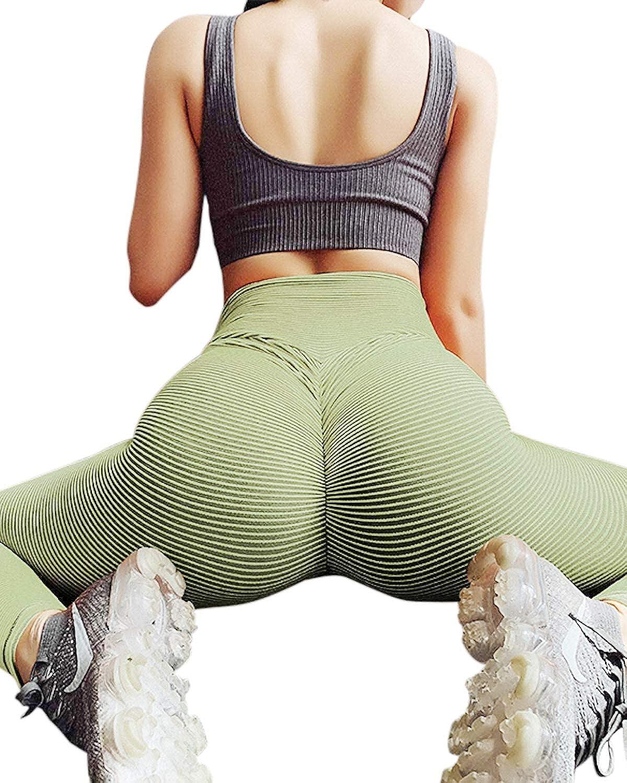 Butt Lifting Booty Leggings/Tummy Control Pants Attikee High Waist Yoga Pants for Women