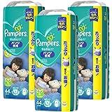 【ケース販売】パンパース オムツ パンツ夜用 さらさらケア ビッグ(12-22kg)132枚(44枚×3パック)
