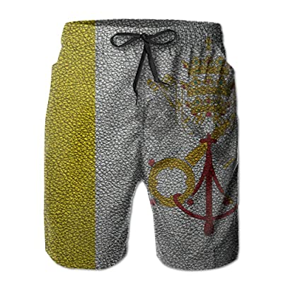 Leather Pattern Vatican Flag EuropeHandsome Fashion Summer Cool Shorts Swimming Trunks Beachwear Beach Shorts