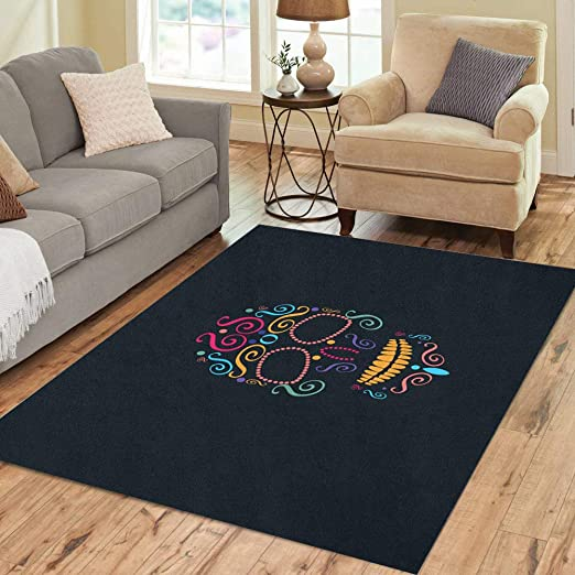 Baby Shower Elephants Balloons Area Rugs Bedroom Carpet Living Room Floor Mat