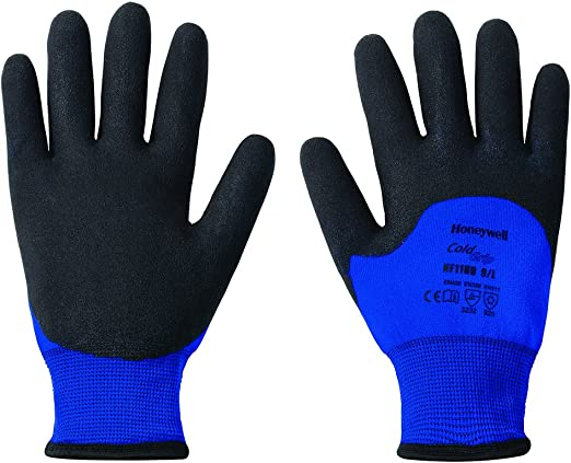 Honeywell Northflex Cold Grip Insulated Safety Gloves with Blue Nylon Liner & PVC Knuckles, 15 gauge, Medium (RWS-57025)