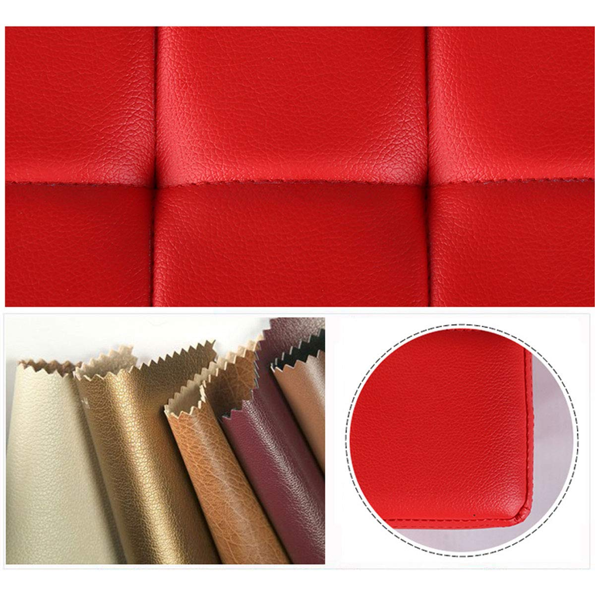 Footstool Ottoman Storage Chest Fashion Living Room Pouffes Sofa Bench Seat Space Saving Max Load 150kg Stool Hallway Furniture Color : Rose red, Size : 80 * 40 * 40cm Storage Benches