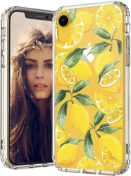MOSNOVO Cover iPhone XR, Limone Trasparente con Disegni TPU Bumper ...