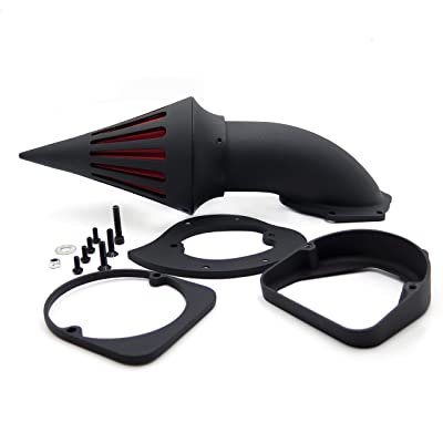 HTTMT MT225-003-BK Black Air Cleaner Kits Intake Filter Compatible with 1998-2013 Honda Spirit Ace 750: Beauty
