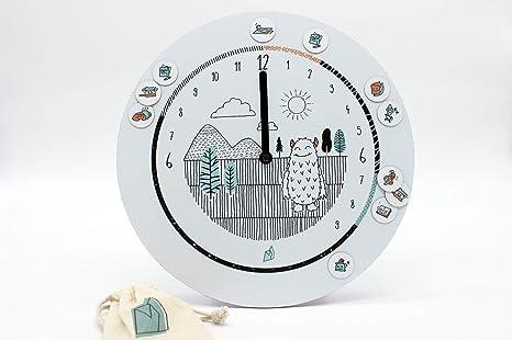 El reloj formidable, reloj de 24 horas para ayudar los niños a comprender el tiempo