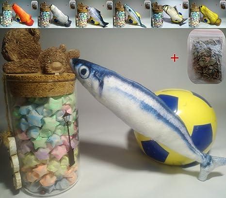 Maibar juguetes gato juguetes para gatos pescado 3D inteligencia mariposa gatos hierba gatera Interactivo para gatos