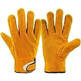 耐熱 手袋 キャンプグローブ レザーグローブ BBQ 耐熱グローブ アウトドア用 作業革手袋 MLS301