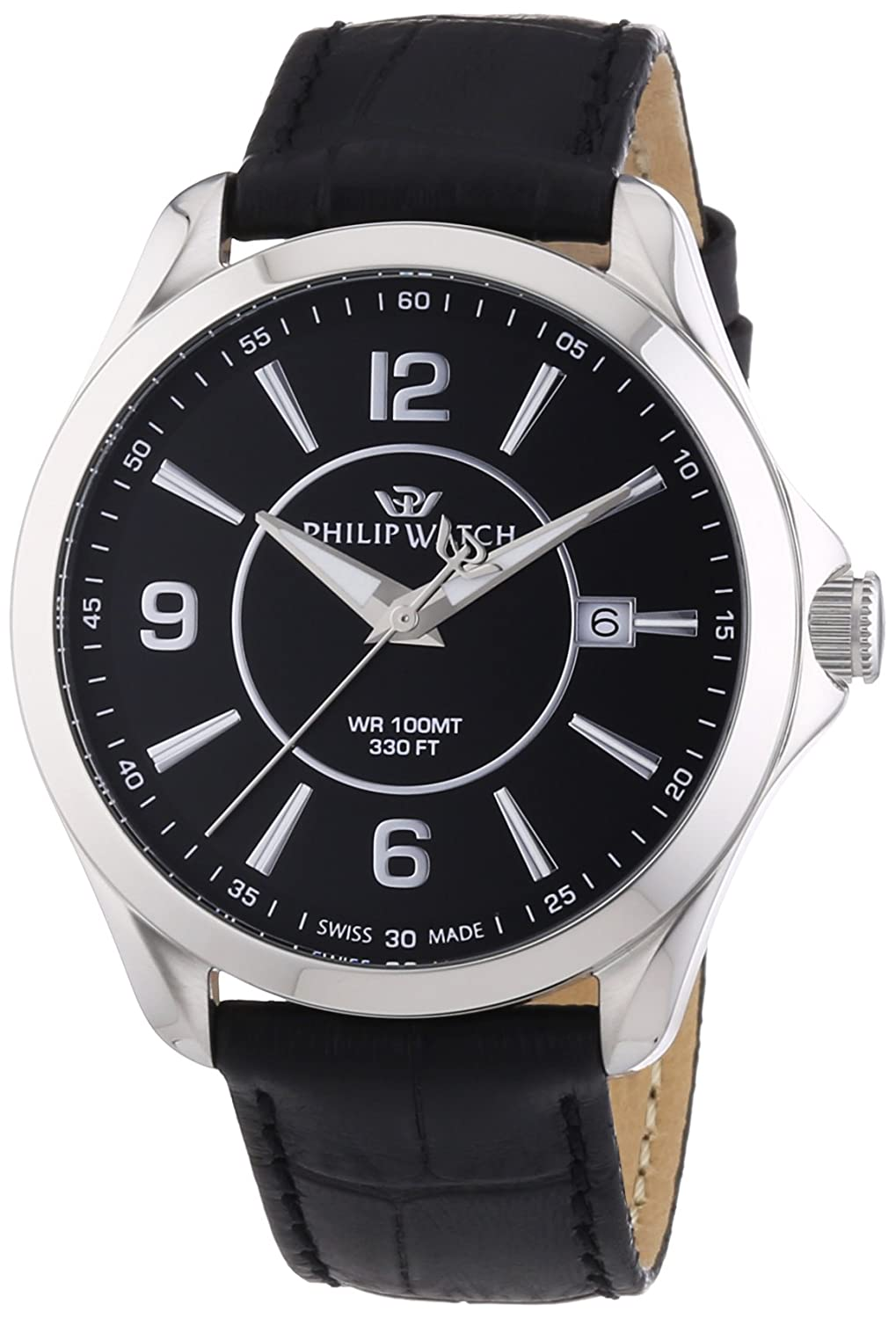 Philip Watch Herren-Armbanduhr BLAZE Analog Quarz Leder R8251165001