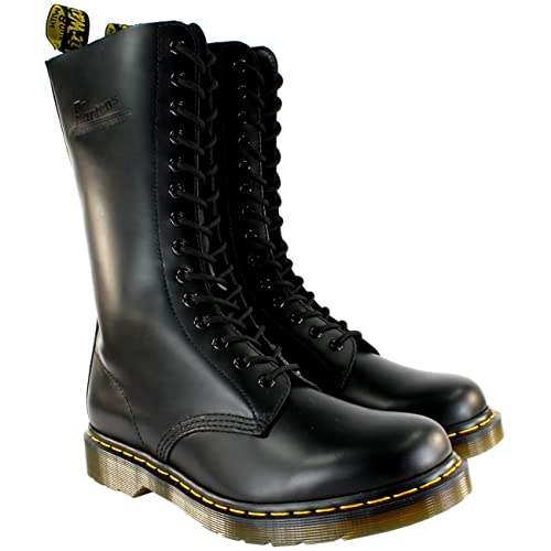 size 40 59589 a5bf7 Mens Dr Martens 1914 Leather Black Lace Up Vintage Mid Calf Boots 8-13