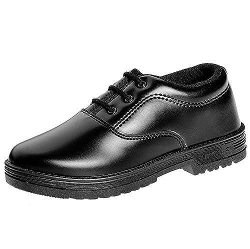 Liberty Boy Lace Up Black School Shoes