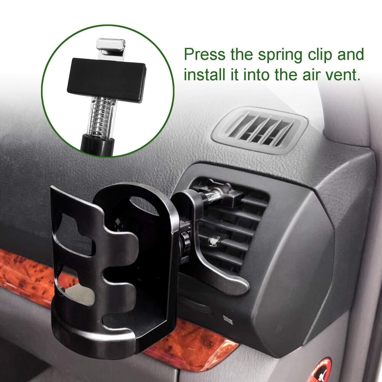 Schwarz Getr/änkehalter Auto Einstellbar f/ür Getr/änkedosen Thermobecher Kaffeetasse,ABS f/ür Cup Durchmesser innerhalb von 7,5 cm