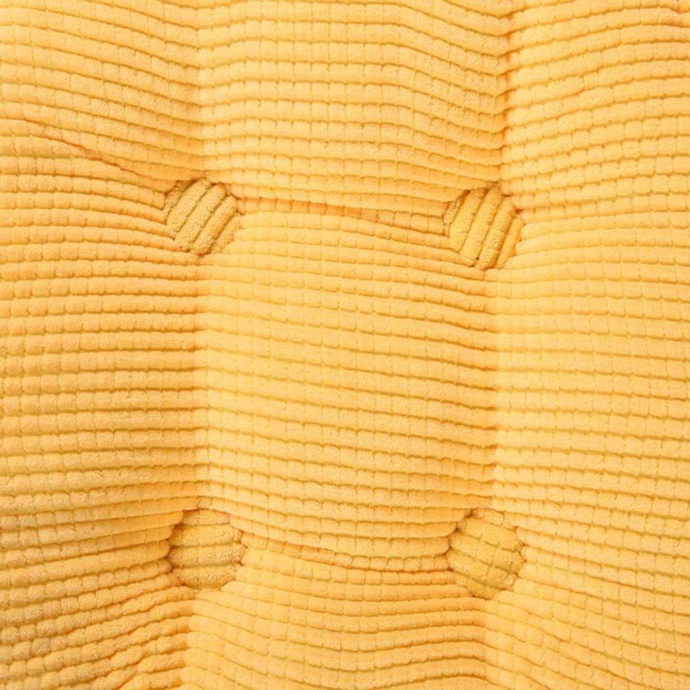 JiaQi Japonés Cojines Cojín Elevador,Espesar Cojines Japonés de Asiento Antideslizante,Felpa Cuadrado Color sólido Cojín Silla Cremallera Tatami para Oficina Coche-B 40x40cm(16x16inch) 1344ea