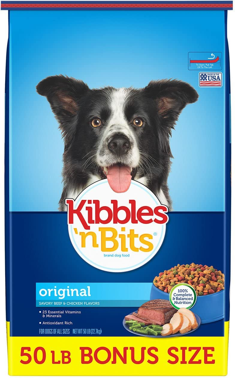 Kibbles N Bits Original Savory Beef & Chicken Flavors Dry Dog Food, 50 Lb