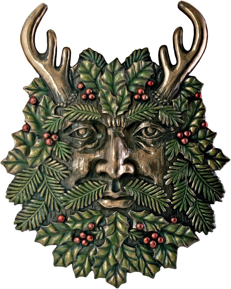 Greenman Winter Plaque Fantasy Designer Decoration Collectible