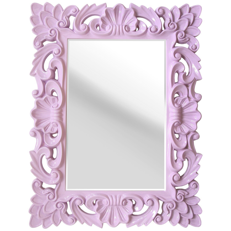 Stratton Home Decor SHD0099 Elegant Ornate Wall Mirror, Lavender