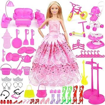 Babypuppen & Zubehör Eligara Puppen Kleidung Puppenkleidung Puppen Schuhe Set Puppen Klamotten Party Kleidung & Accessoires