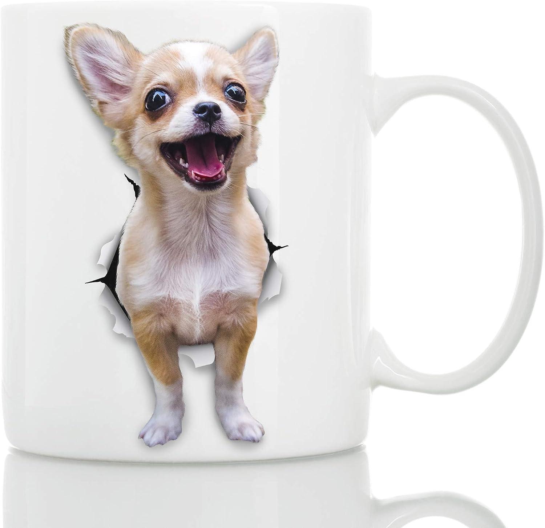 Taza de Perro Chihuahua Divertido - Taza Chihuahua Divertido de Cerámica para Café - Regalo Perfecto sobre Perro Chihuahua - Divertida y Bonita Taza de Café para Amantes de los Perros