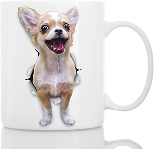 Amazon Com Funny Chihuahua Dog Mug Ceramic Funny Coffee Mug Perfect Dog Lover Gift Cute Novelty Coffee Mug Present Great Birthday Or Christmas Surprise For Friend Or Coworker Men
