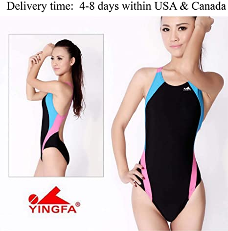 c4861f6364d Image Unavailable. Image not available for. Color: YingFa One Piece Racing  Swimsuit for Women Training ...