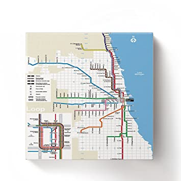 Subway Map Chicao.Amazon Com Chicago Subway Map Pattern Oil Painting On Canvas With