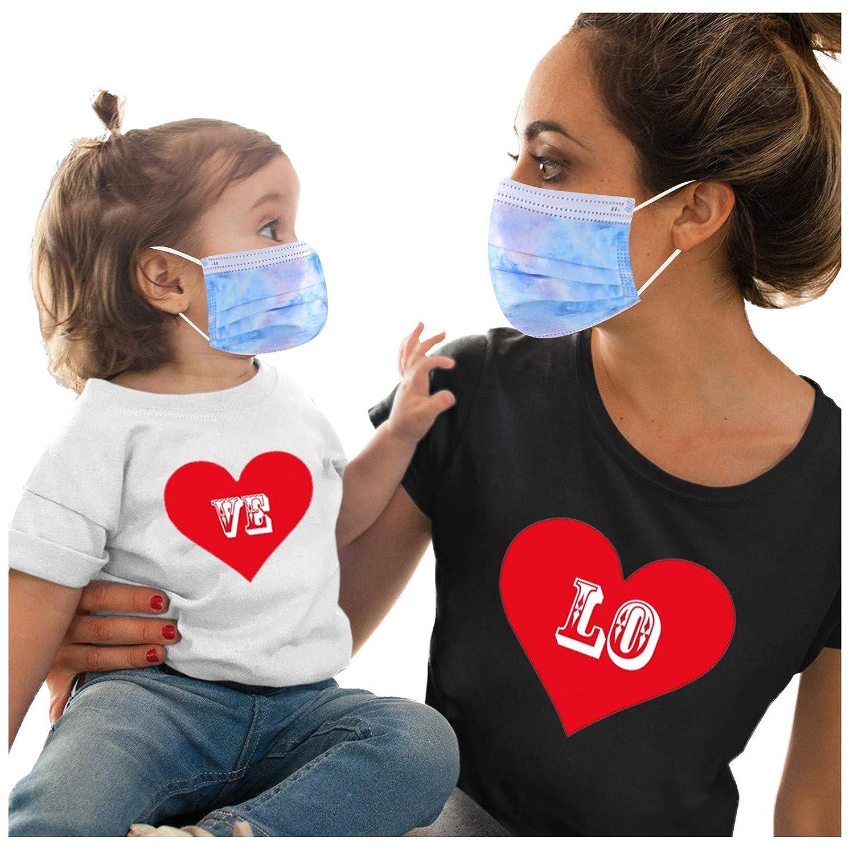 Serria-es 50 Piezas Adulto+50 Piezas Niño Mäscarilla antivirus de Una Sola Vez Azul Impresión 3 Capas Protección