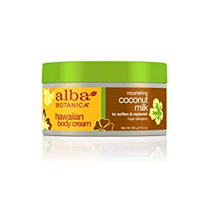 Alba Botanica Hawaiian, Coconut Milk Body Cream, 6.5 Ounce