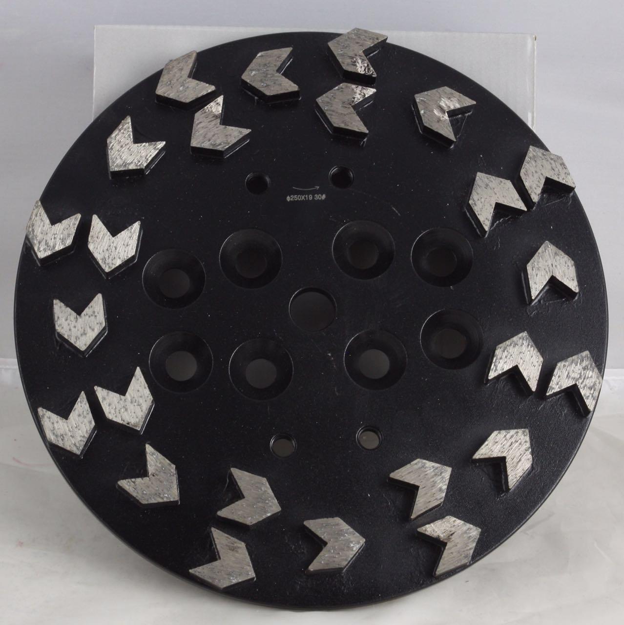 Whirlwind USA GPGA 10-inch Diamond Grinding Head Premium Aggressive Arrows-shaped Segmented (10'')