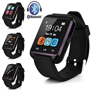 Swees® U8 Bluetooth Smart Watch Inteligente Reloj Teléfono Compañero para Android IOS Iphone Samsung Galaxy HTC,Sony (Negro)