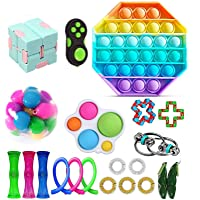 23 Piece Sensory Relief Toy Sets, Stress And Anxiety Relieving Fidget Toys, Cheap Figetget Toys Fidget Toys, Fidget Sets…