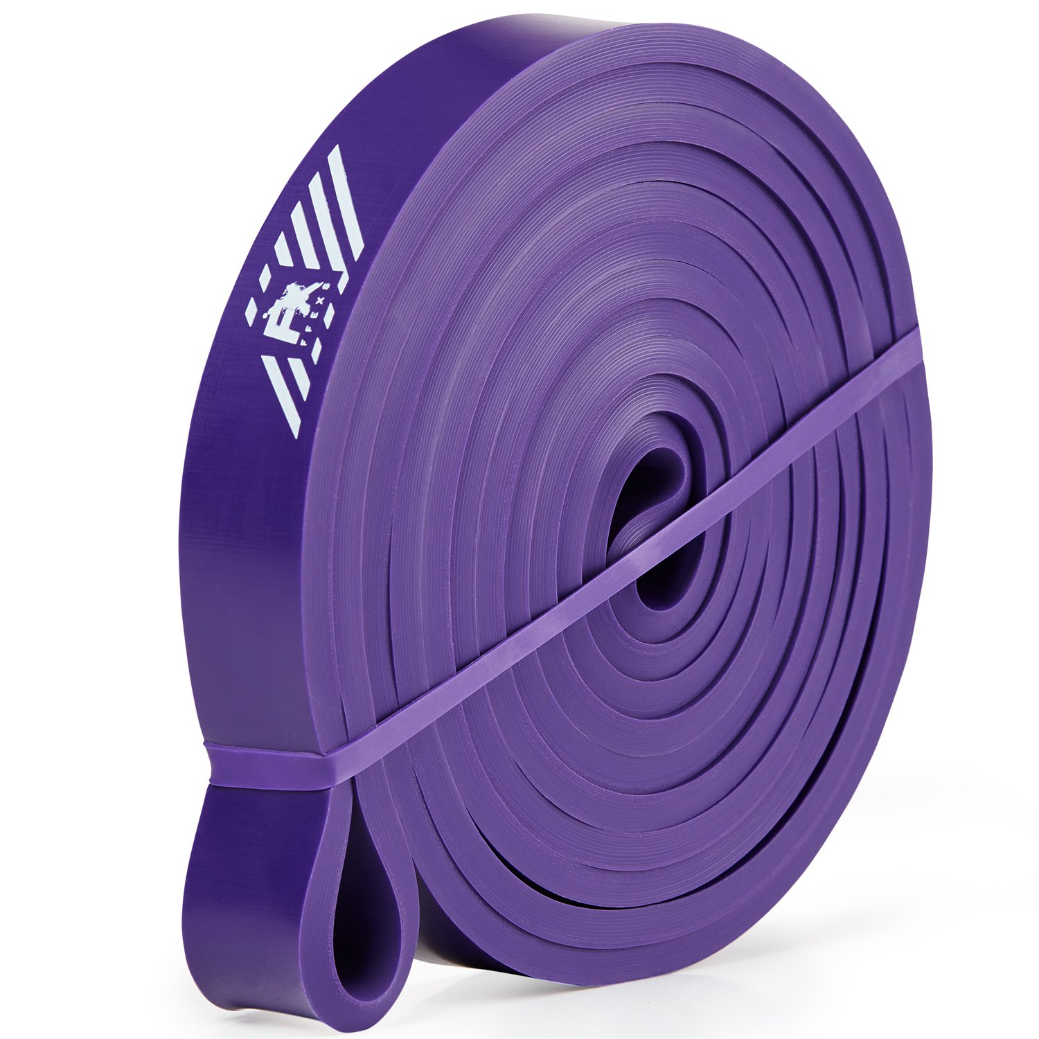 Pull Up Assistance Bands - Resistance Bands for Assist Chin Ups - Exercise Bands for Crossfit Fitness Powerlifting Weight - Power & Weight Lifting for Men Women - Heavy Gym Latex Elastic - Purple