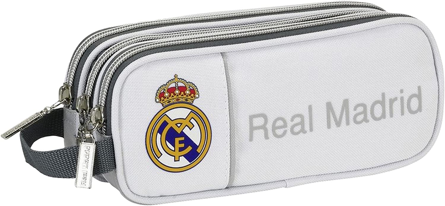 Real Madrid - Estuche portatodo Triple (SAFTA 811624635): Amazon.es: Equipaje