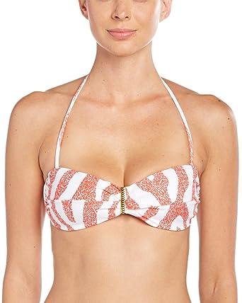 8f19719aecf08 Amazon.com: ViX Swimwear Women's Coral Carmen Bandeau Bikini Top ...