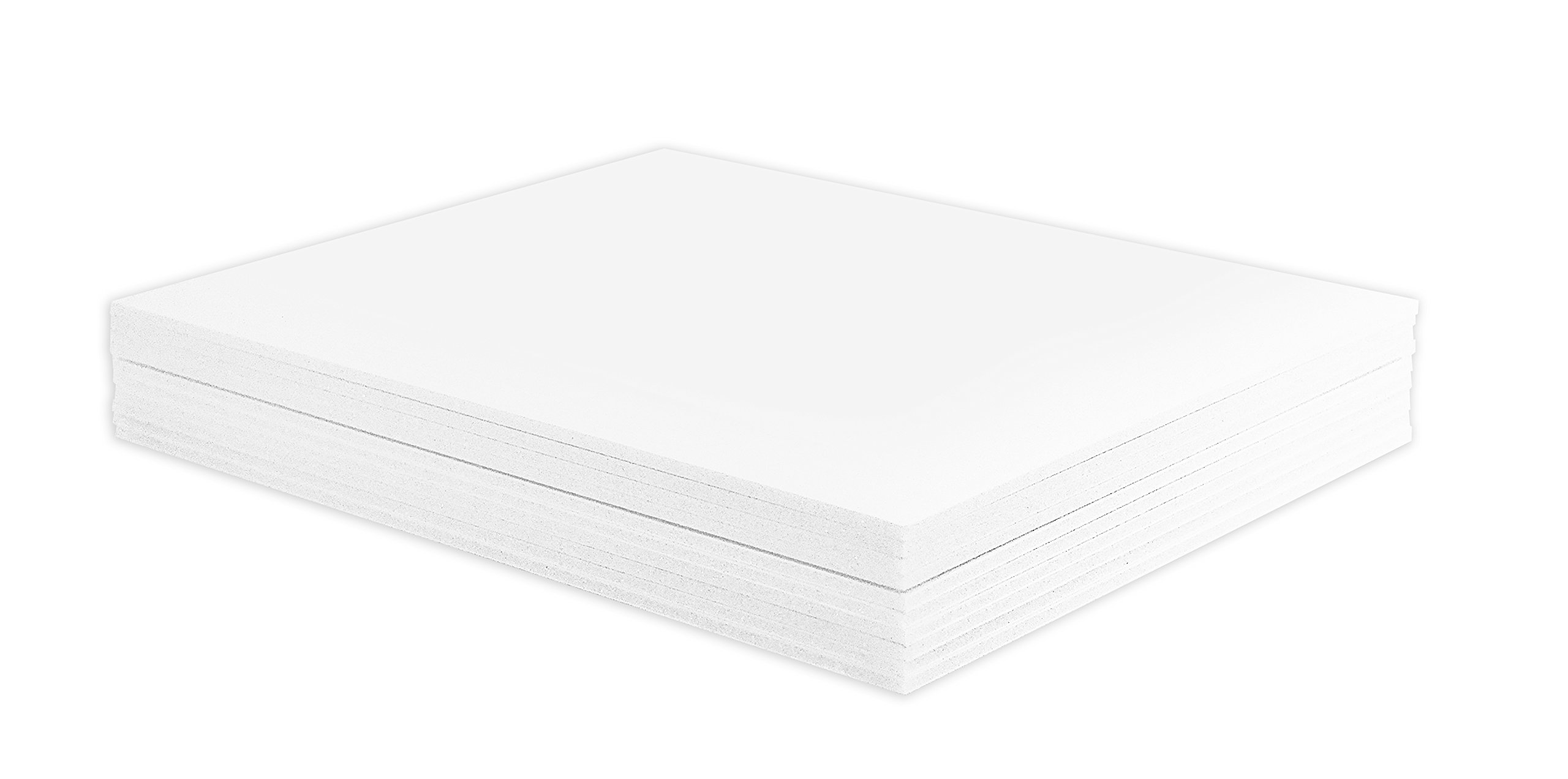 Golden State Art, Pack of 10, 1/8'' Thick, 11x14 White Foam Core Backing Boards (11x14, White)
