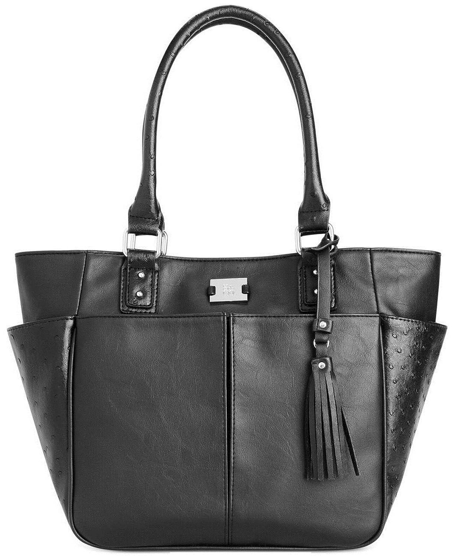 Style&co. Multi Pocket Tote Shoulder Bag, Black