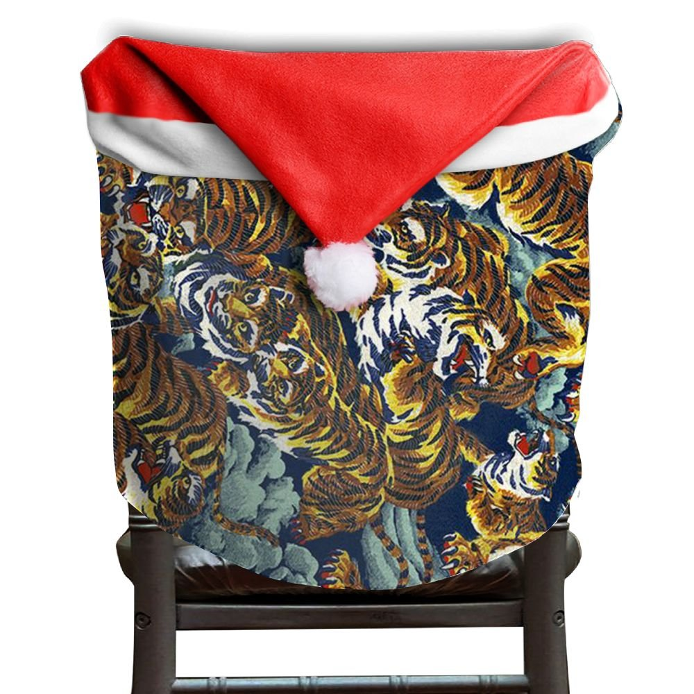 Tiger Animal Christmas Chair Covers STYLISH Strong Chair Covers For Christmas For Men And Women Christmas Chair Back Covers Holiday Festive