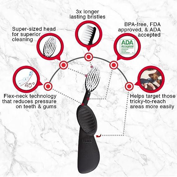 Radius Scuba derecho mano cepillo de dientes, pack de 3: Amazon.es: Salud y cuidado personal
