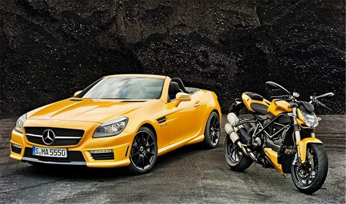 Gerahmt Mercedes Benz 16 x 20 Zoll Malen nach Zahlen f/ür Kinder und Erwachsene DIY-/Ölgem/älde-Kit