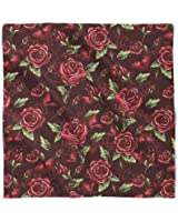 Red Rose With Thorns Satin Style Scarf