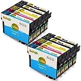Gohepi T129XL Compatible pour Cartouches Epson T129 T1291 T1292 T1293 T1294 T1295, 4 Noir/2 Cyan/2 Magenta/2 Jaune Pack de 10 Travailler avec Epson Stylus SX420W SX445W SX525WD SX425W SX620FW SX535WD SX235W SX430W SX230 SX435W, Epson Stylus Office BX525WD BX635FWD BX305F BX305FW Plus BX320FW BX42WD BX625FWD BX925FWD BX630FW, Epson WorkForce WF-7015 WF-7525 WF-7515 WF-3520DWF WF-3010DW